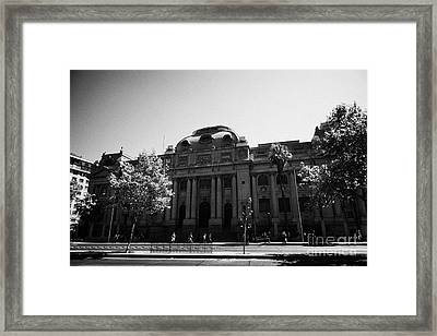 biblioteca nacional de chile national library Santiago Chile Framed Print by Joe Fox