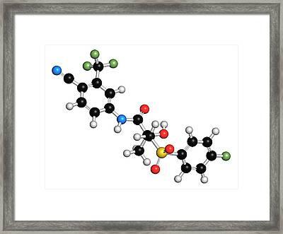 Bicalutamide Prostate Cancer Drug Framed Print by Molekuul