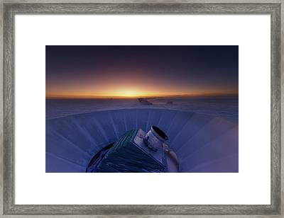 Bicep2 Telescope Framed Print
