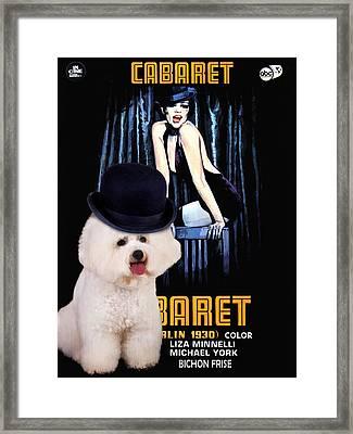 Bichon Frise Art - Cabaret Movie Poster Framed Print