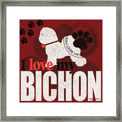 Bichon Framed Print by Kathy Middlebrook