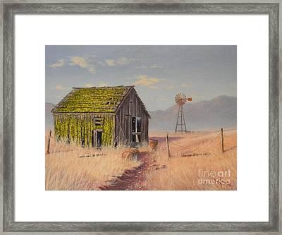 Bickelton Barn Framed Print
