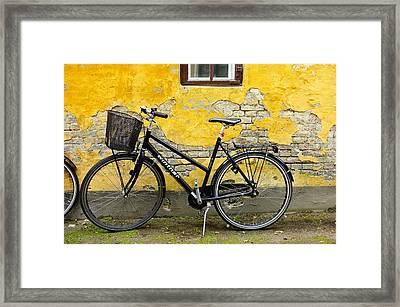 Bicycle Aarhus Denmark Framed Print by John Jacquemain