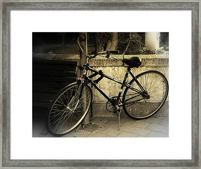 Bicycle Framed Print by Amr Miqdadi