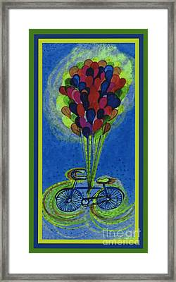 Bicycle Balloons By Jrr Framed Print by First Star Art