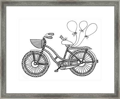 Bicycle Baloons Framed Print