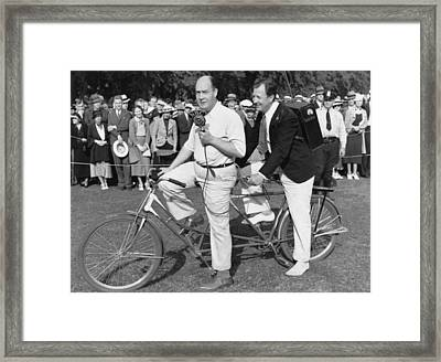 Bicycle Broadcasting Framed Print