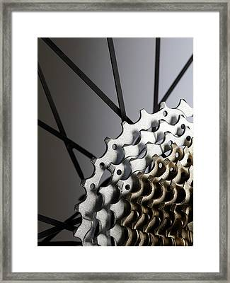 Bicycle Cassette Framed Print