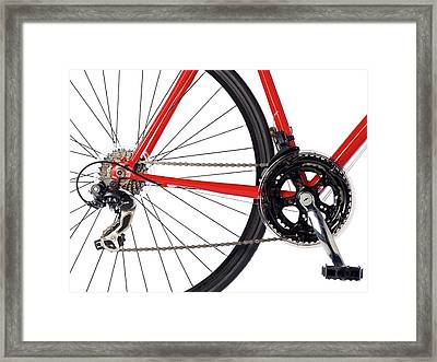 Bicycle Chain And Back Wheel Framed Print