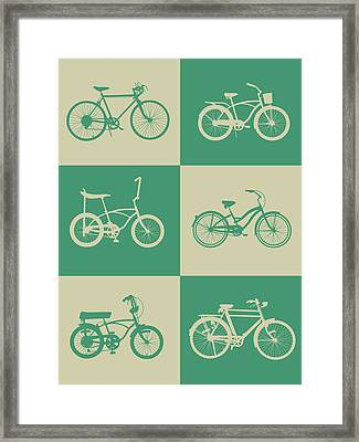 Bicycle Collection Poster 4 Framed Print by Naxart Studio