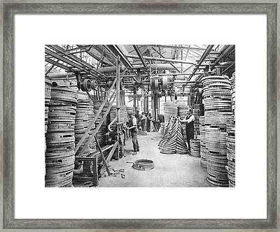 Bicycle Factory Interior Framed Print