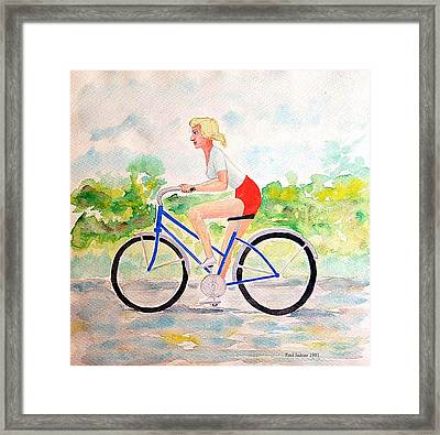 Bicycle Framed Print by Fred Jinkins