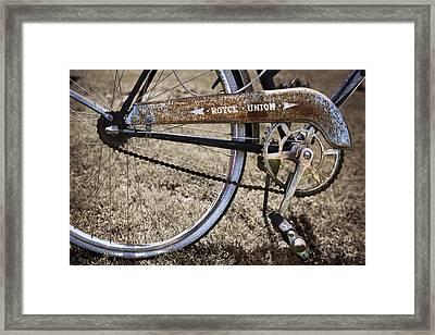 Bicycle Gears Framed Print by Debra and Dave Vanderlaan