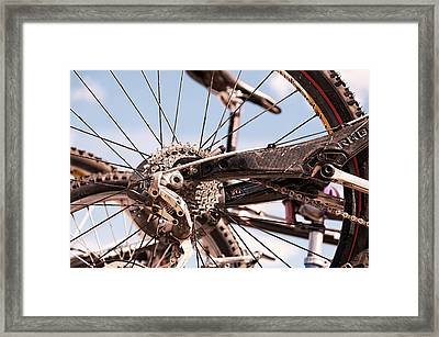 Bicycle Gears Framed Print
