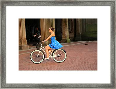 Bicycle Girl 1 Framed Print by Andrew Fare
