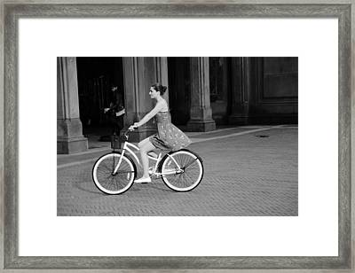 Bicycle Girl 1b Framed Print by Andrew Fare