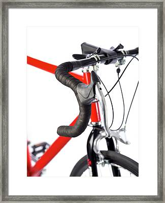 Bicycle Handlebars Framed Print