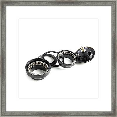 Bicycle Headset Framed Print by Science Photo Library