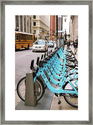 Bicycle Hire Framed Print by Jim West