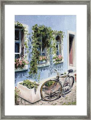 Bicycle In Zurich Framed Print