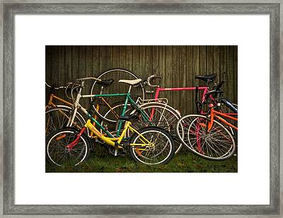 Bicycle Jam Framed Print by Odd Jeppesen