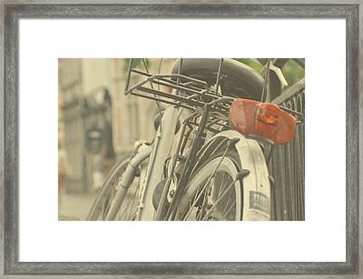 Bicycle Lane Framed Print