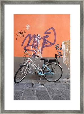 Bicycle Laspezzia Italy Framed Print