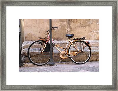 Bicycle Lecce Italy Framed Print