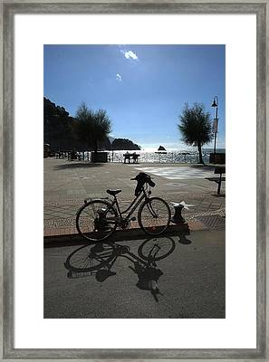 Bicycle Monterosso Italy Framed Print