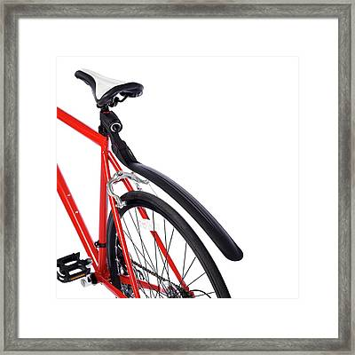 Bicycle Mud Guard Framed Print