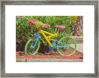 Bicycle Of Colors Framed Print by Kim Hojnacki