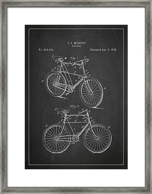 Bicycle Patent Framed Print by Aged Pixel