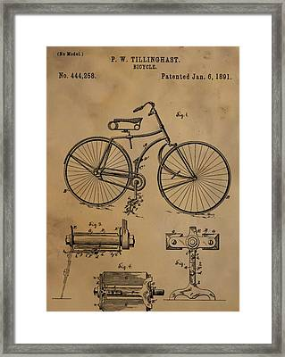 Bicycle Patent Framed Print by Dan Sproul