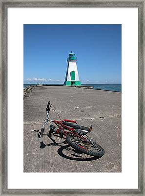 Bicycle Port Dalhousie Ontario Framed Print