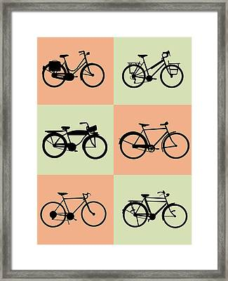 Bicycle Poster Framed Print by Naxart Studio