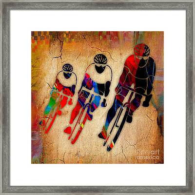 Bicycle Race Framed Print by Marvin Blaine