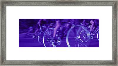 Bicycle Race Framed Print by Panoramic Images