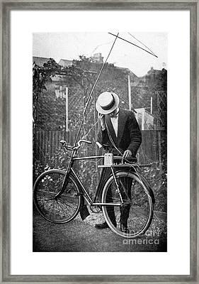 Bicycle Radio Antenna, 1914 Framed Print by Spl