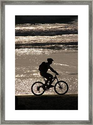 Bicycle Rider Framed Print by Arie Arik Chen