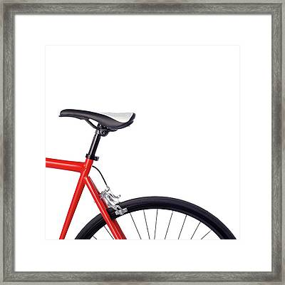 Bicycle Saddle Framed Print