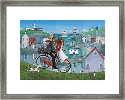 Bicycle Seascape Framed Print