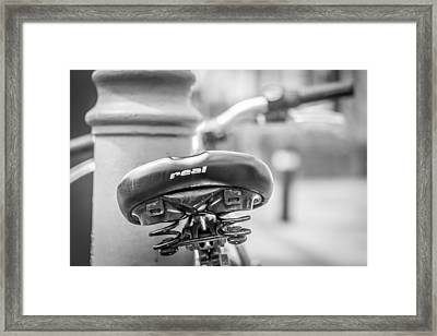 Framed Print featuring the photograph Bicycle Seat.  by Gary Gillette