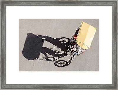 Bicycle Taxi In Havana Cuba Framed Print by Rob Huntley
