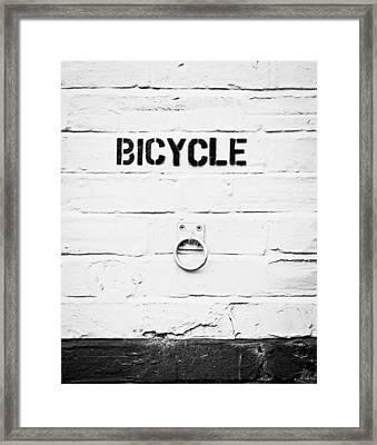 Bicycle Framed Print