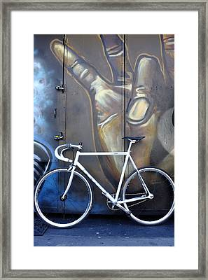 Bicycle Toronto Ontario Framed Print