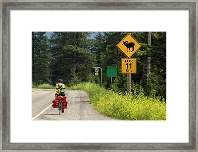 Bicycle Touring On The Adventure Framed Print by Chuck Haney