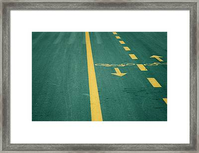 Bicycle Tracks Framed Print