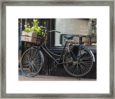 Bicycle With Flowers #1 Framed Print