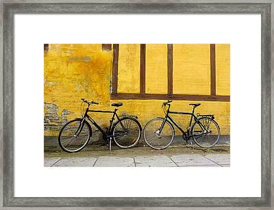 Bicycles Aarhus Denmark Framed Print