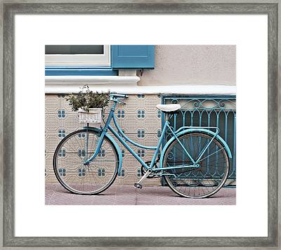 Vintage Bicycle Photography - Bicycles Are Not Only For Summer Framed Print